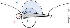 pressure field around wing